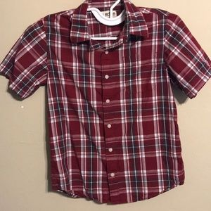 Urban Pipeline Burgundy Plaid Button Up Shirt